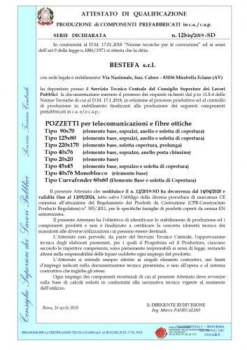 certificazione pozzetti