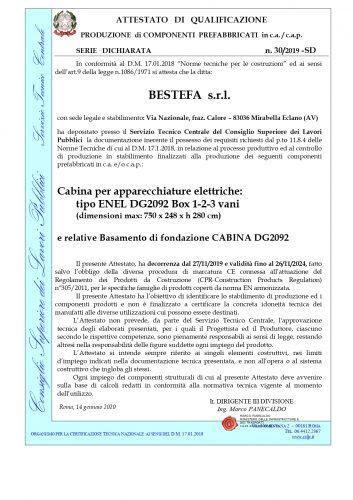 certificazione cabine