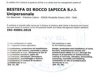 certificazione UNI EN ISO 45001:2018